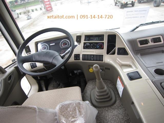 Nội thất xe ben Daewoo cao cấp và rộng rãi