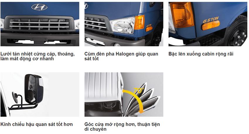 Thông số nổi bật xe tải Hyundai HD99