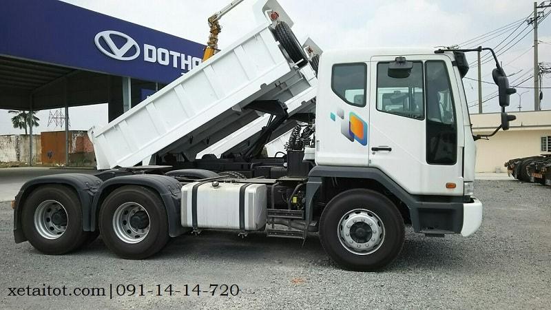 Hình thực tế xe ben Daewoo 15 tấn