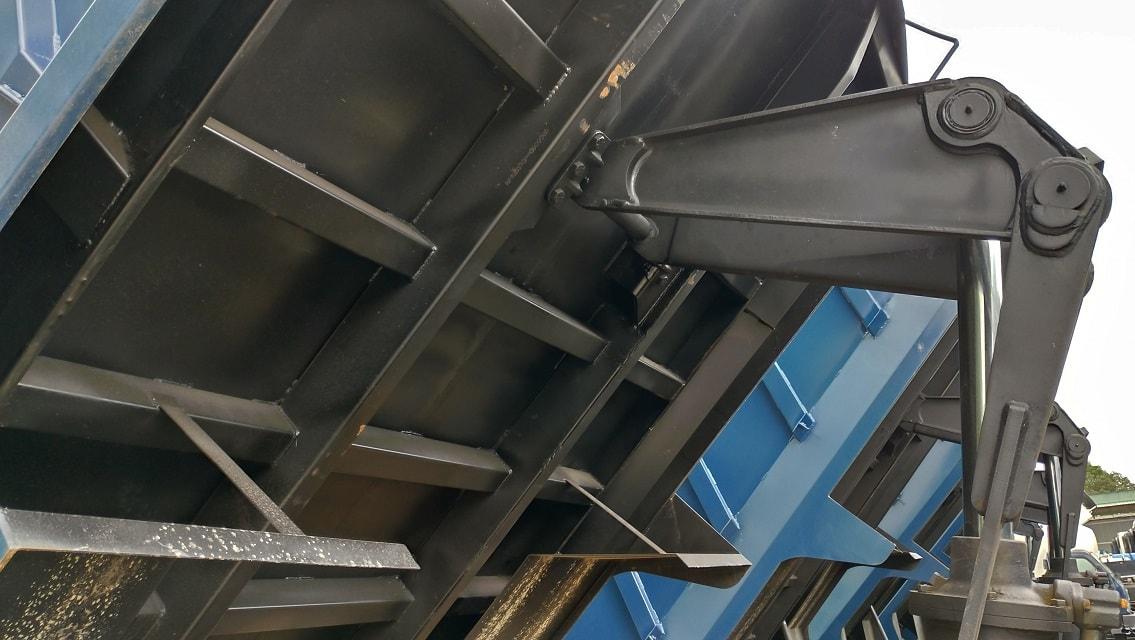 Hệ thống sàn thùng đà thùng xe ben 2 khối