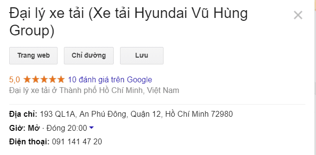 Xe tải Hyundai Vũ Hùng