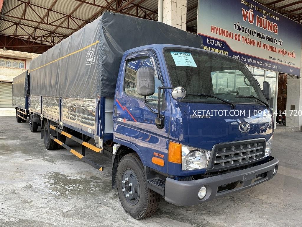Xe tải Hyundai HD120SL, màu xanh