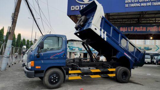 Ngoại hình xe ben Hyundai Mighty 2017 thùng 5 khối