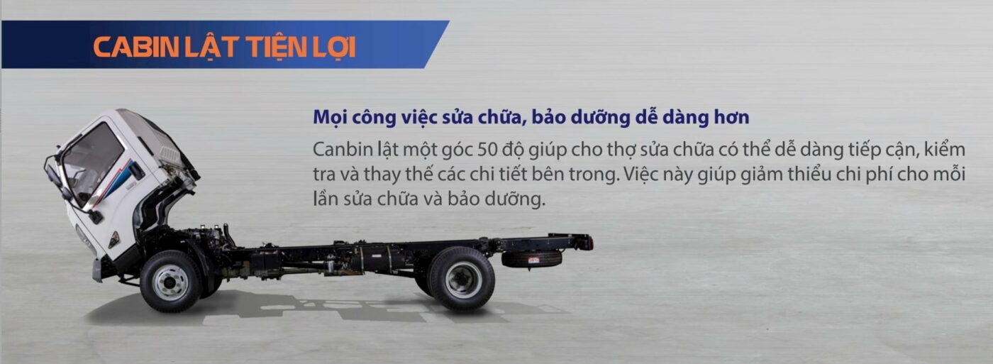 Kết cấu xe tải IZ650-SE 6.5 tấn