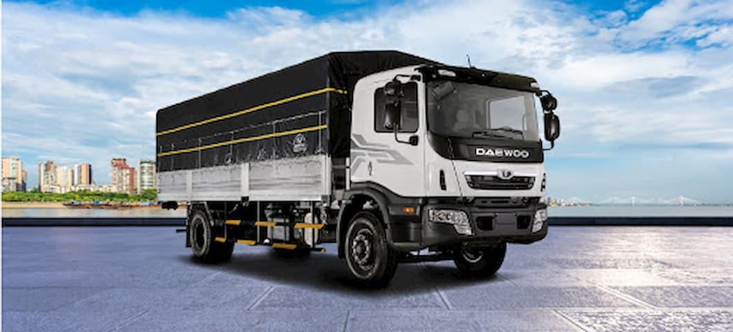Giá xe tải Daewoo HC6AA thùng dài 7.6 mét