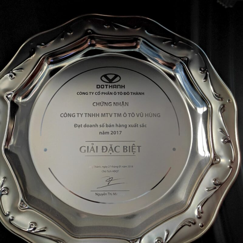 Giải thưởng bán Xe tải Đô Thành