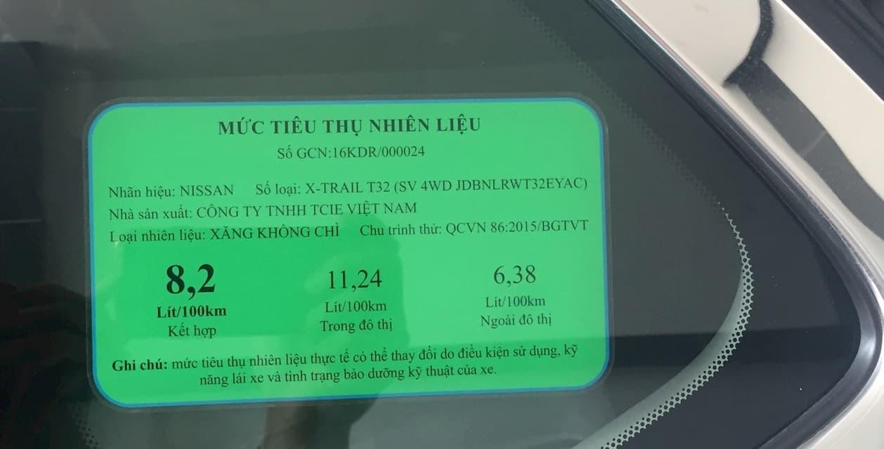 Định mức tiêu hao nhiên liệu của một hãng xe