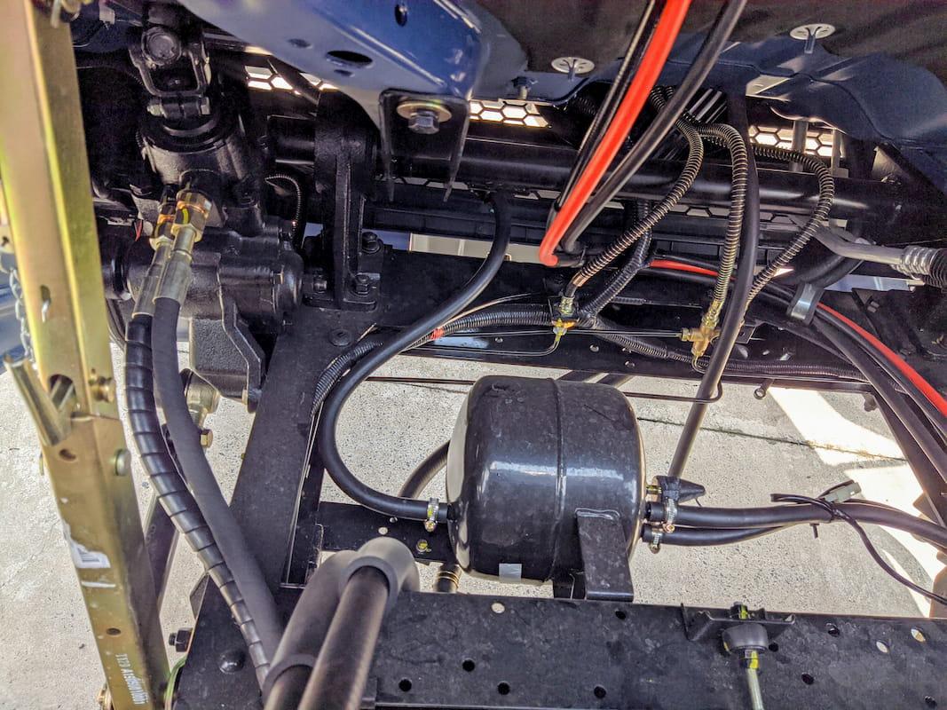 Hệ thống điện hay các dây dẫn được làm gọn gàng