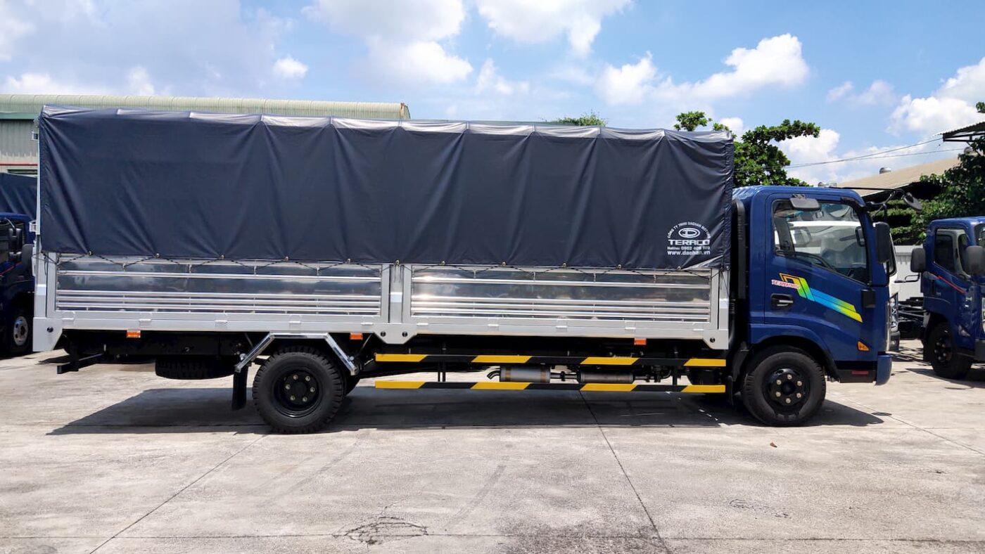 Thùng của xe tải Tera 190SL rất dài