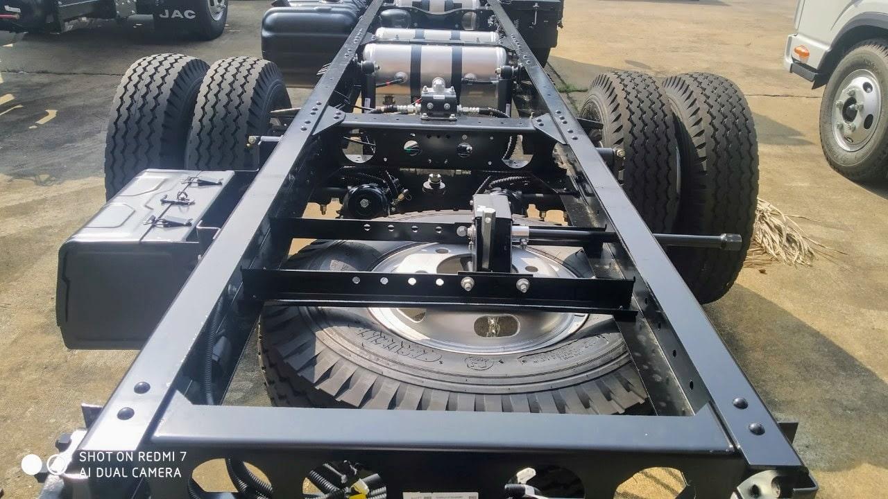 Khung gầm của xe JAC N500 5 tấn rất chắc chắn